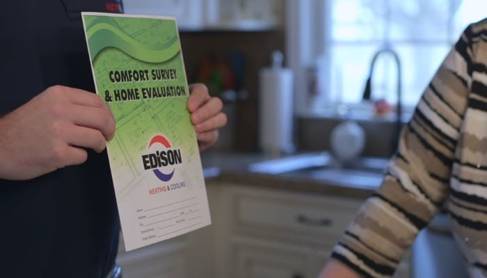 Edison Heating And Cooling Comfort Survey