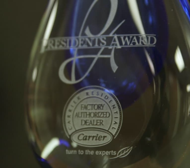 Main Edison Heating And Cooling Presidents Award Carrier