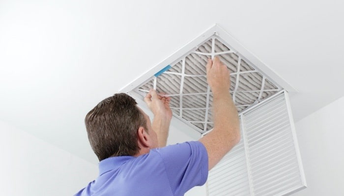 Removing Square Air Filter In Ceiling Vent